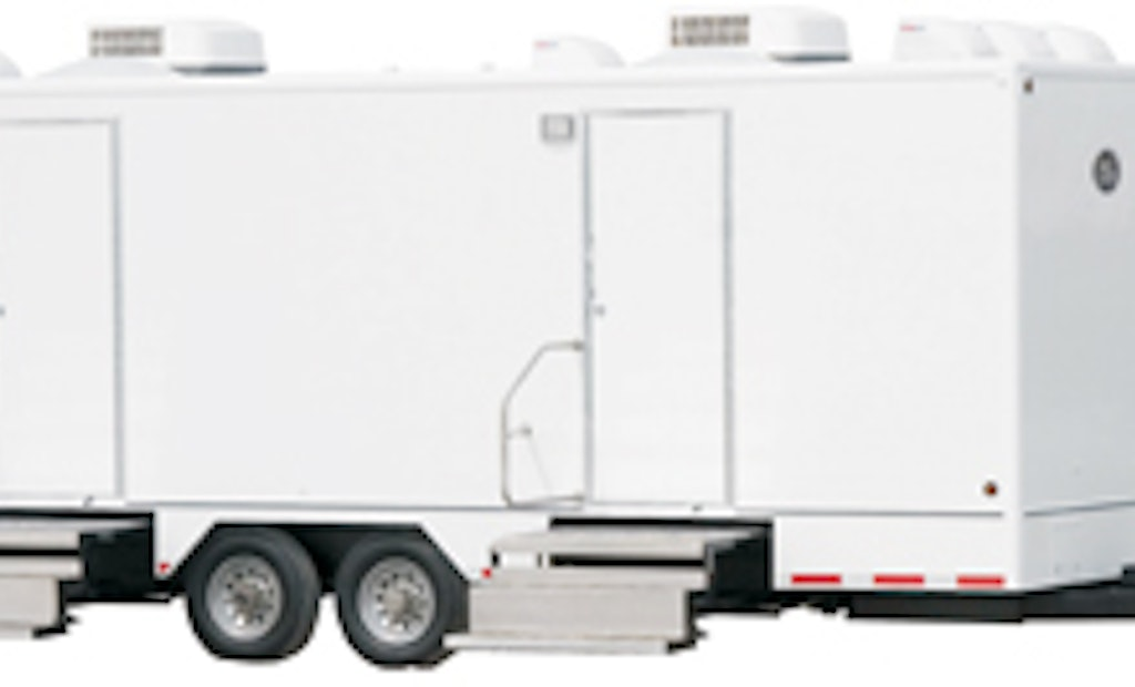 Mobile Restroom Manufacturer Takes On President's Cup PGA Golf Tournament