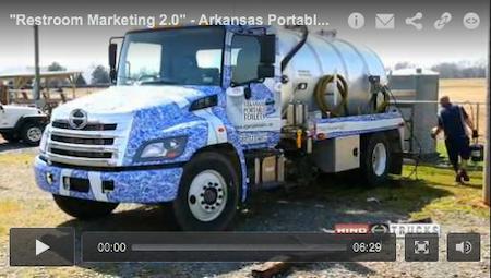 """Restroom Marketing 2.0"" - Arkansas Portable Toilets - June 2014 PROfile"