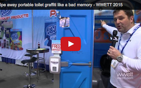 Wipe away portable toilet graffiti like a bad memory - WWETT 2015