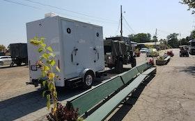 'White Castle' Restroom Trailer Joins Military Vehicle Caravan