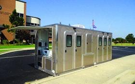 Restroom Trailers - Lowering restroom trailer