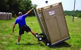Portable Restroom Accessories/Supplies - Restroom hand truck