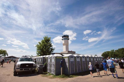Portable Restroom Operator Services Airshow Second Straight Year