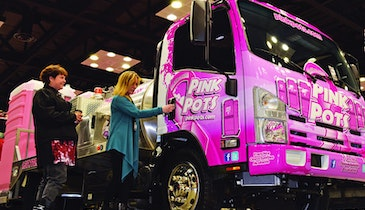 Pink Pots Vacuum Truck Pays Tribute, Proves to be an Expo Eye-Catcher