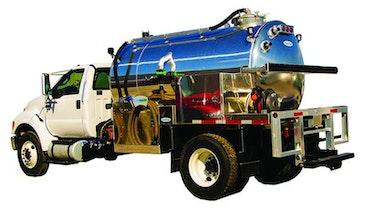 Portable Restroom Service Trucks - Flowmark Deluxe Model PRT