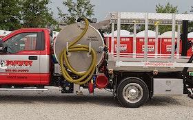 Vacuum Trucks - Imperial Industries 700-gallon aluminum sidewinder