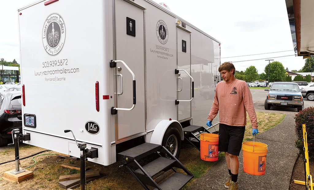 Forget the Plastic Units. For Luxury Restroom Trailers by Privy Chambers, It's Go Big or Go Home.