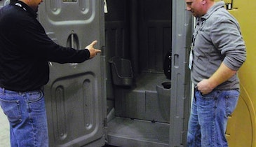 Axxis Portable Restroom Adds Features Designed To Stand Up To Heavy Use