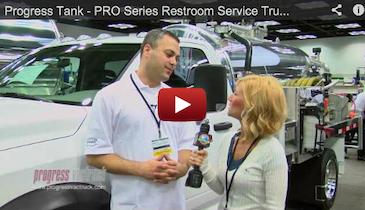 Progress Tank - PRO Series Restroom Service Trucks - 2012 Pumper Cleaner Expo
