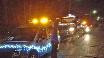 Pumpers Trim Their Trucks for the Holidays