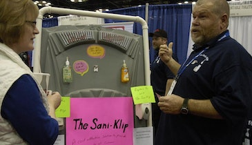 Sani-Klip Secures Common Hand Sanitizer Dispensers In Portable Restrooms