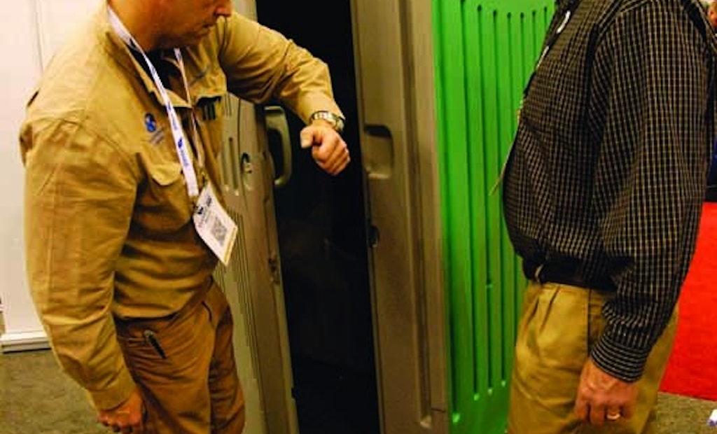 Zenith Restroom from Sansom Industries Incorporates Hands-Free Door Opening