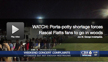 VIDEO: Restroom Blunder Forces Concertgoers Into the Woods