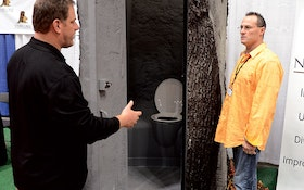 """Stealthy """"Stump"""" Portable Restroom Shines at Pumper & Cleaner Expo"""