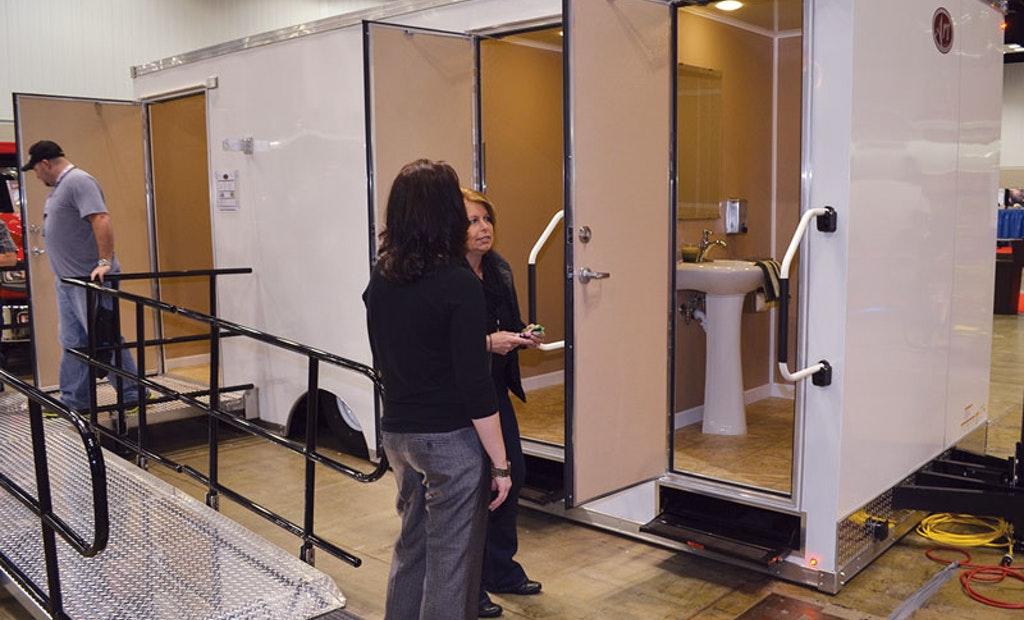 Self-Lowering Restroom Trailer Shines at Trade Show