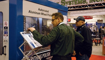 VIS-Polish System Gives Aluminum Rims a Mirror Finish