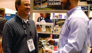 Made for RVs, Tank Cleaner is a Powerful Tool for Restroom Trailers Too