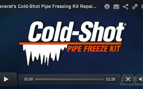 General's Cold-Shot Pipe Freezing Kit Repairs Water Systems Without Draining