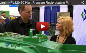 Myers - HPL120-30 High Pressure Reciprocating Pump - 2012 Pumper Cleaner Expo