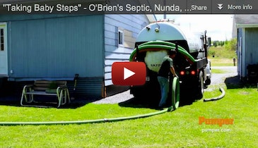 """Taking Baby Steps"" - O'Brien's Septic, Nunda, NY - January 2013 Pumper Video Profile"
