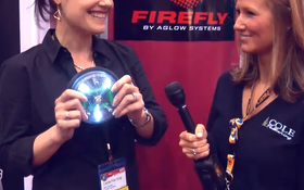 Aglow Systems - Motion-Activated Firefly Solar Light - Pumper & Cleaner Expo 2011