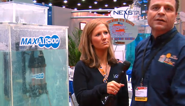 Septic Services Inc. - MaxAir500 submersible aerator - Pumper & Cleaner Expo 2011