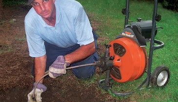 Cape Cod Drain Cleaning Pro Takes His Firend On His Toughest Jobs – His Mini-Rooter XP