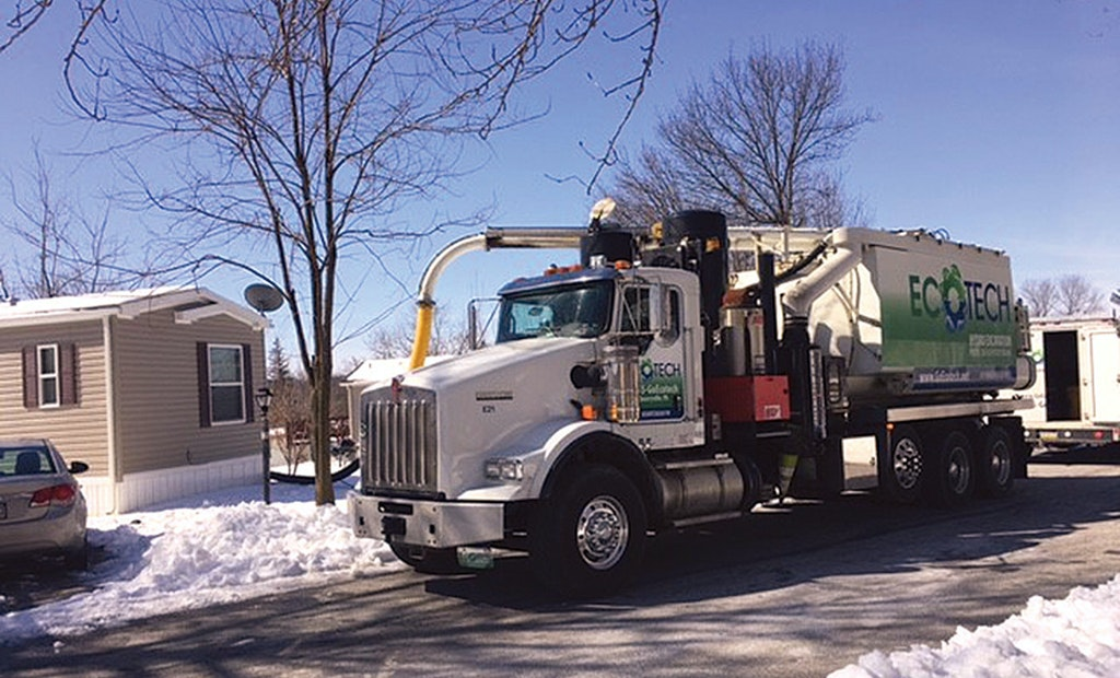 Hydroexcavator provides safe and efficient digging in mobile home community