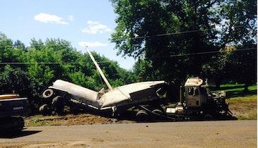 Pumper Cleans Up Farm Truck Spill
