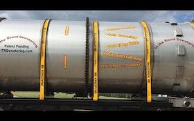 In The Round Dewatering horizontal dewatering drum