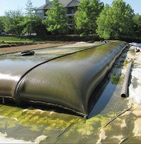 Filtration Tubes Used To Remove Sediment From Pond