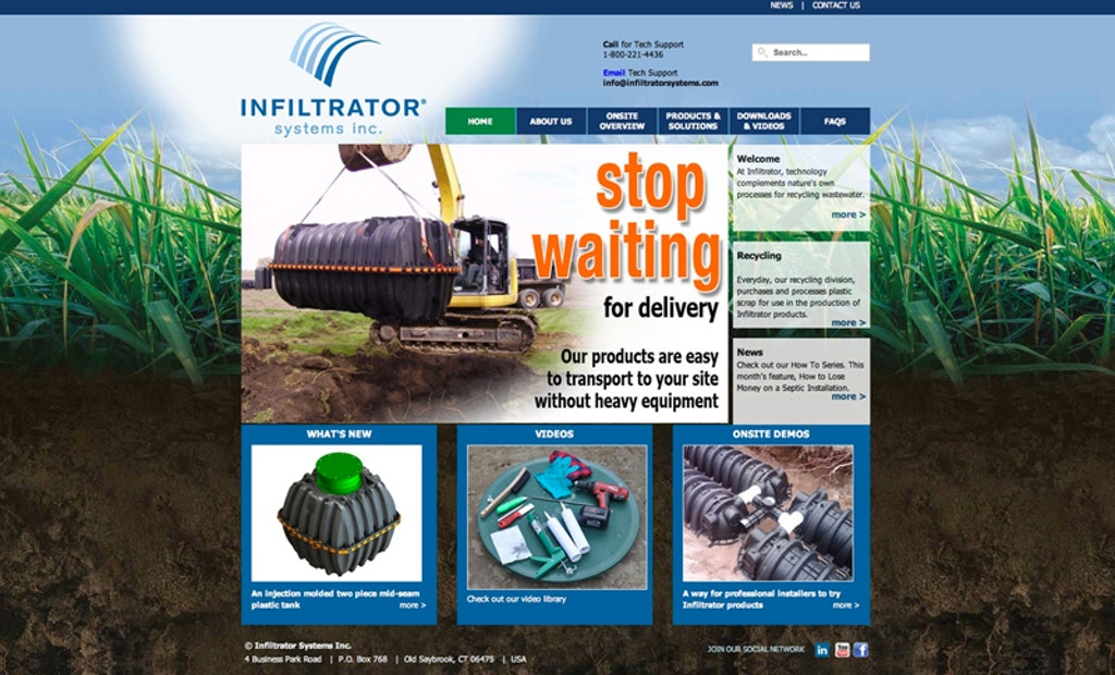 Infiltrator Systems Launches New Website