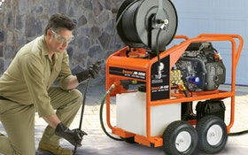 Unmatched Water Jet Drain Machine Powers Up Drain Cleaning