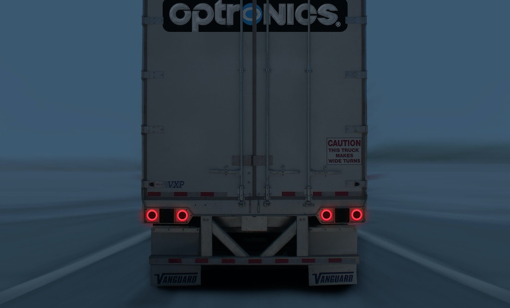 Optronics introduces Uni-Lite LED clearance/marker lamps with GloLight Optics on Vanguard trailers