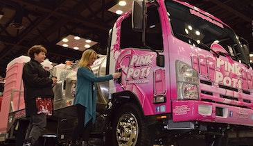 Best Enterprises Pink Pots Service Truck Pays Tribute, Emerges an Expo Eye-Catcher