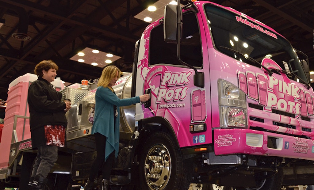 Best Enterprises Pink Pots Service Truck Pays Tribute, Emerges an Expo Eye-Catcher