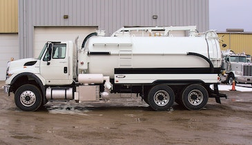 Built for Tough Jobs, Vacuum Truck's Hydraulic Boom, Blower Adds Versatility for Pumpers on a Budget