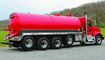 Lift Axles and Tank Configuration Enable Pumper to Service Tight Residential Areas