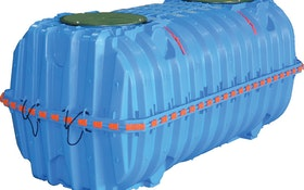 Injection-Molded, Potable Water Tank Made For In-Ground Use