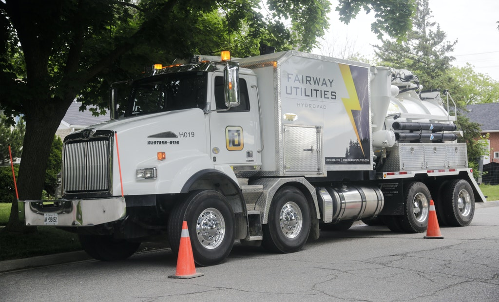 Transway Systems Hydrovac Truck Carries the Load for Canada's Fairway Utilities
