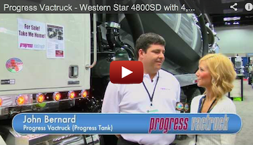 Progress Vactruck - Western Star 4800SD with 4,200 Gal Tank - 2012 Pumper & Cleaner Expo