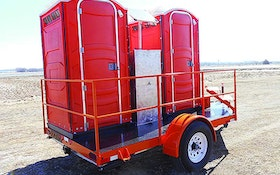 Tow-Let Twin Flush restroom trailer