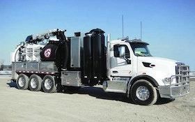 Vactor hydroexcavator with Peterbilt option