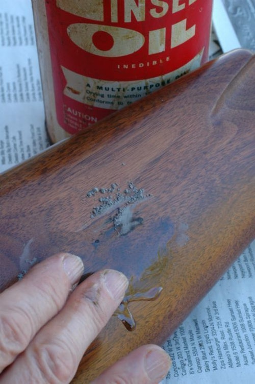 Tip for customers: Between coats of finish, hand-rub in a slurry of rottenstone and boiled linseed oil.