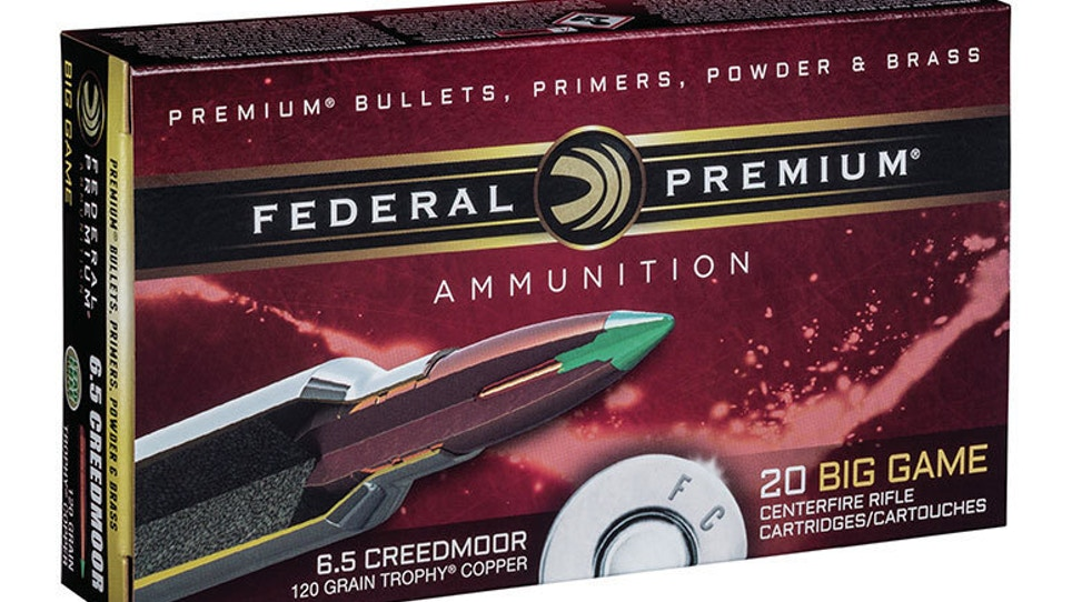 Federal Premium adds 6.5 Creedmoor to Trophy Copper line