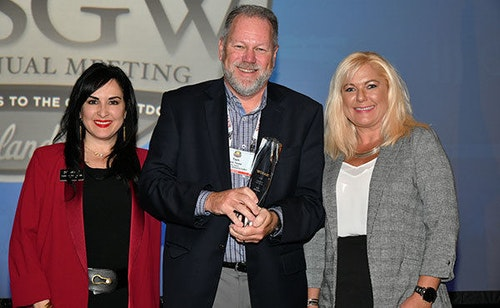 Laurie Aronson, President & CEO, Lipsey's and Chairwoman, NASGW; Tom Taylor, SIG SAUER, Inc.; and Stefanie Zanders, Zander's Sporting Goods, General Manager & Co-Owner and NASGW Director.