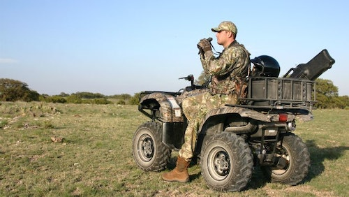 ATV-mounted scabbards are a good idea for hunters on the go. Consider stocking a scabbard or two, and display them prominently.