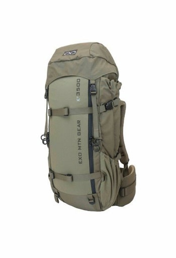 The Exo Mountain Gear K² 3500 pack is well equipped for day hunts or extended stays in the backcountry.