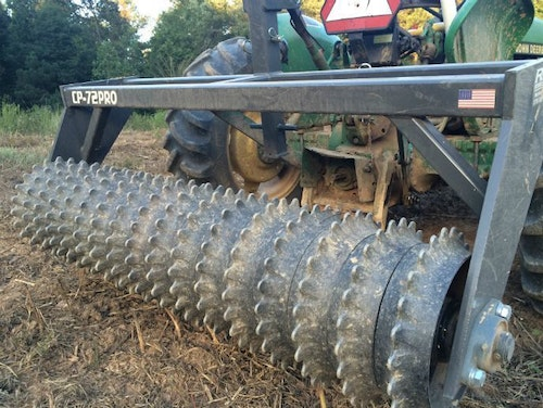 Cultipackers are rolled over the soil after seed has been planted to smooth out and firm up the seedbed.