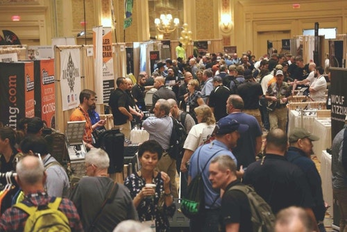 The SHOT Show NEXT Pavilion was located on the third floor near the Membership Lounge and Press Room. It was abuzz with traffic.